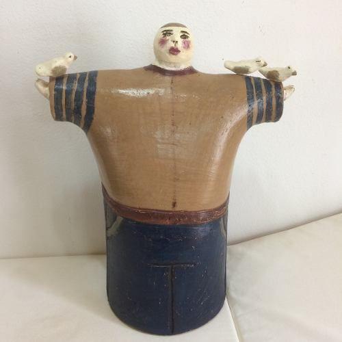 São Francisco Gordo Cerâmica Artesanal Decorativo