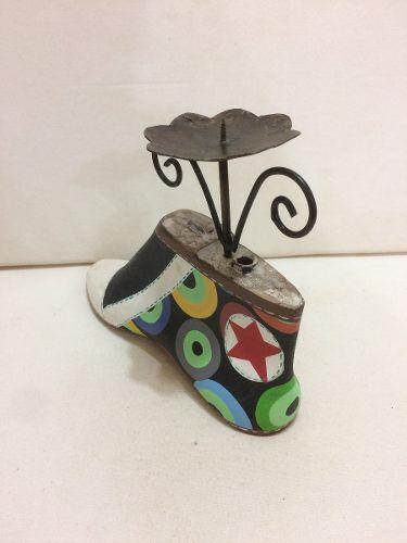 Sapato Castiçal Artesanal Decorativo