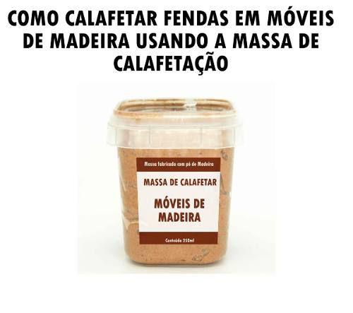 Kit 2 Massa De Calafetar Móveis De Madeira Massa Pó Madeira
