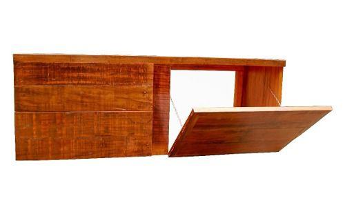 Bancada Para Banheiro Lavabo Em Madeira De Demolição 1,50x40