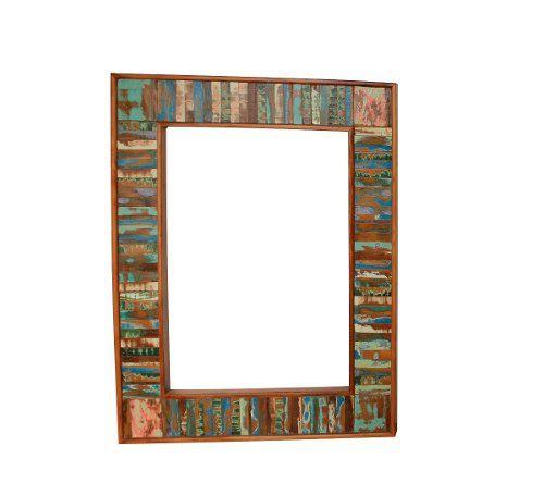 Moldura Para Espelho Fabricada Em Madeira Demolição 1,20x80