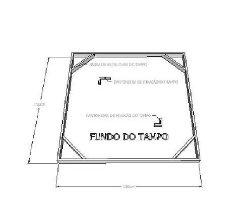 Mesa De Jantar Quadrada em Madeira De Demolição 1,40x1,40x78