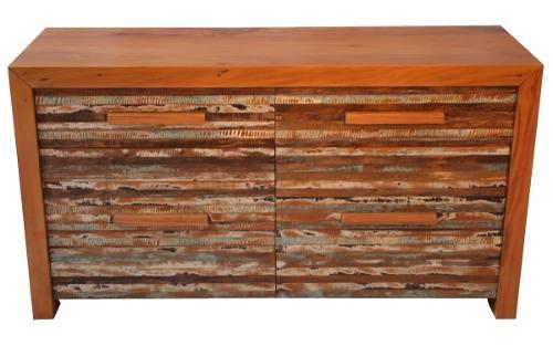 Buffet Aparador madeira de demolição 1,40 X 0,40 Com 2 Gavetas E 2 Portas