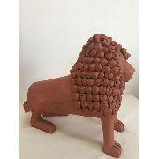 Leão Grande Artesanal Decorativo Arte Popular