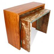 Aparador Ninho 1,60 x 0,40 Em Madeira De Demolição Produto Artesanal