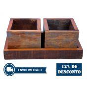 Cachepot Porta Planta Duplo Medindo Em Madeira De Demolição 48x24x18