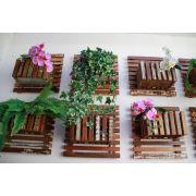 Jardim Vertical Módulo Cachepô Em Madeira De Demolição Placa Ripada