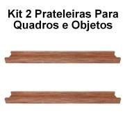 Kit 2 Prateleira em Madeira De Demolição para Quadros medindo 60x10x4