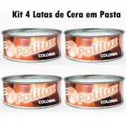 Kit 4 Cera Em Pasta Carnaúba Para Moveis Varias Cores