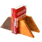 Suporte Para Livros Em Madeira De Demolição Peça Decorativa Medindo 0,15 x 0,6