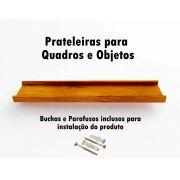 prateleira em Madeira De Demolição para Quadros medindo 70x15x4