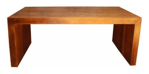 Mesa De Jantar Em Madeira De Demolição Modelo U 2,00x90x78