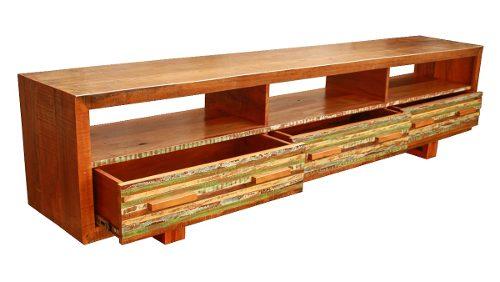 Rack 3 Gavetas Ripinhas  Para Sala De Estar  Medindo 2,50x40x50