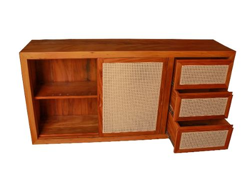 Buffet Palhinha 1,60x40x85 Para Sala De Estar Em Madeira De Demolição