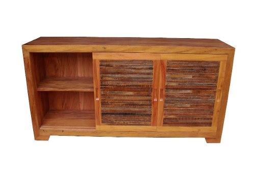 Buffet 3 Portas Ripinhas  Medindo 1,60x50x85 em  Madeira De Demolição
