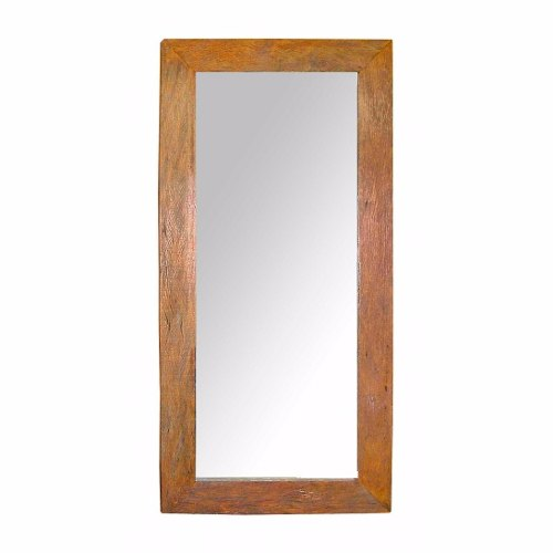 Moldura Para Espelho Rústica Em Peroba Rosa De Demolição 1,20x80x10 Sem Espelho