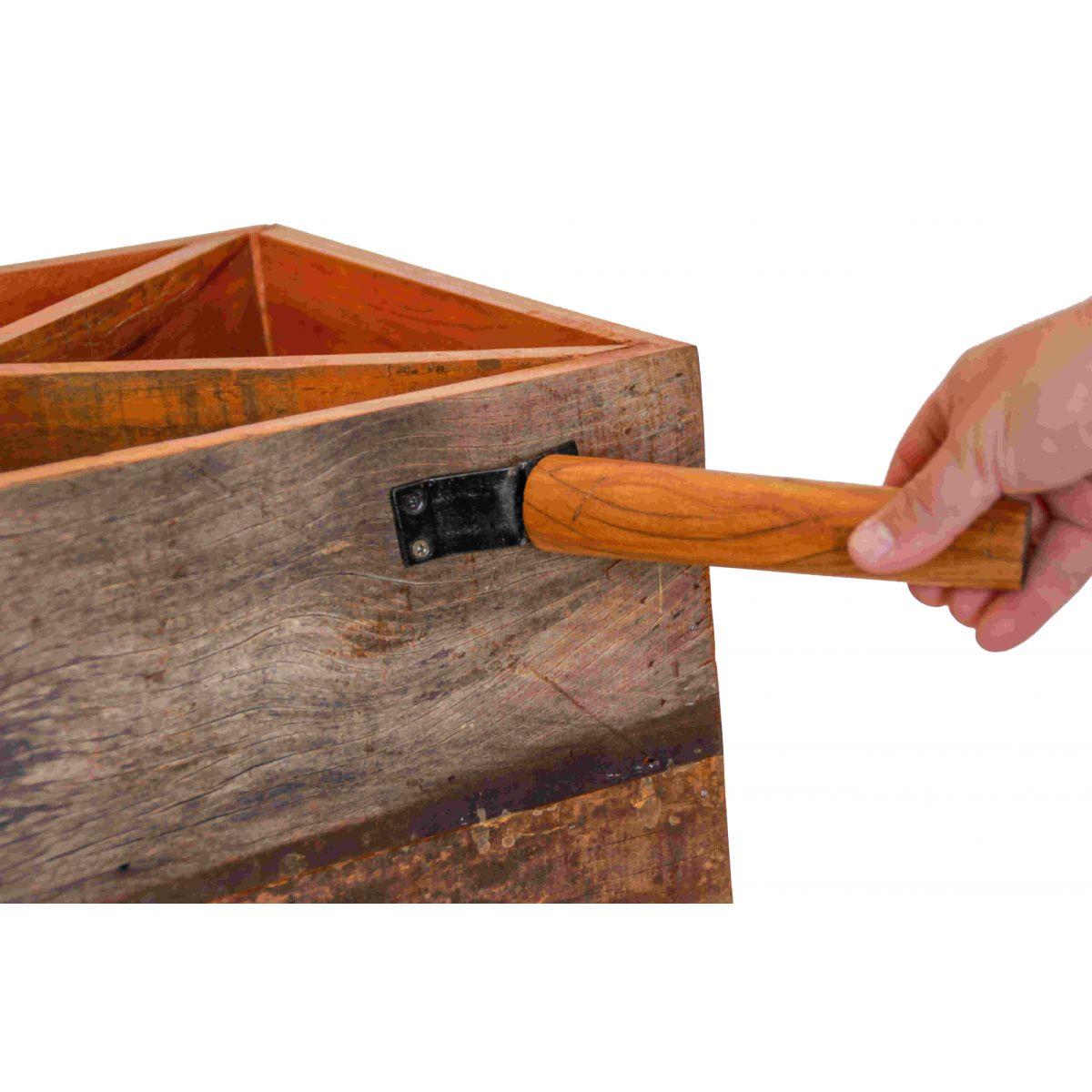 Adega Caixa Para Vinho Em Madeira De Demolição Medindo 40x35x60