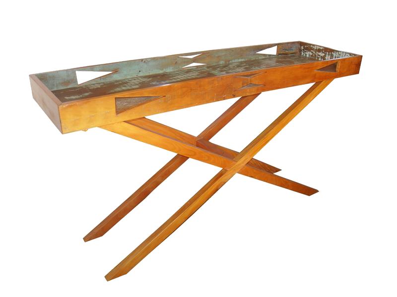 Aparador Bandeja 1,40x40x85 Em Madeira De Demolição