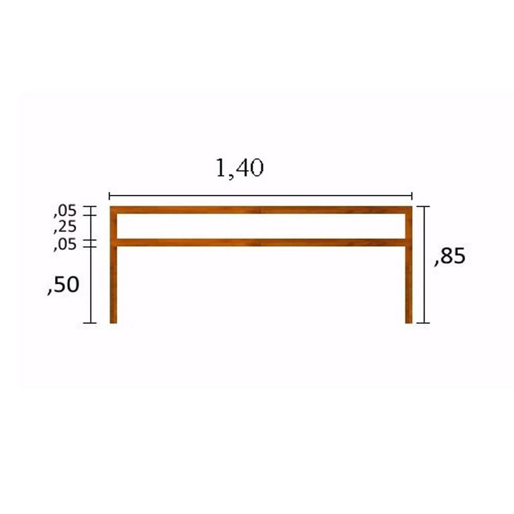 Aparador Com Prateleira Em Madeira De Demolição medindo 1,20x30x85