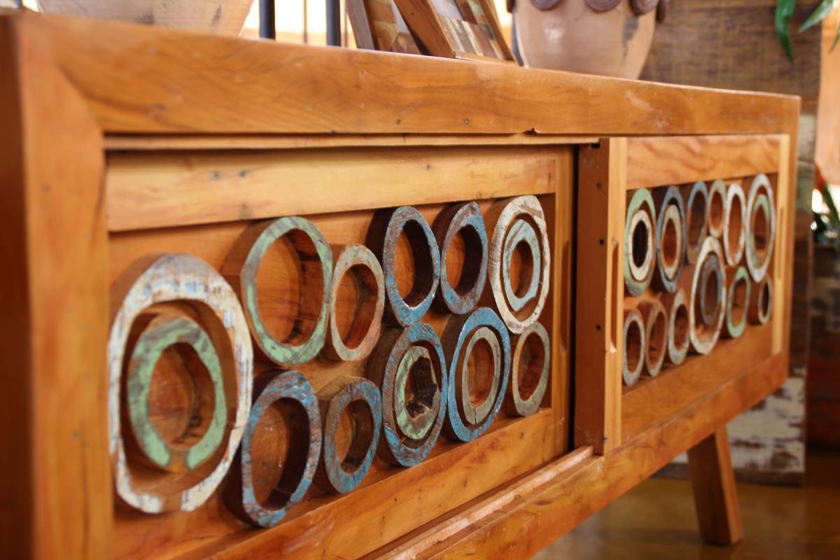 Rack 1,60x40x60  Para Sala De Estar Em Madeira Maciça De Demolição