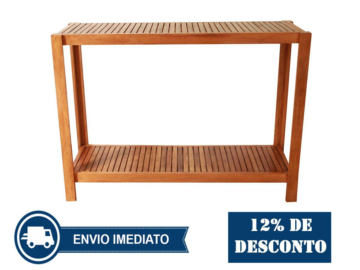 Aparador Ripado com Prateleira Fabricado em Madeira de Demolição Medindo 120x40x85cm