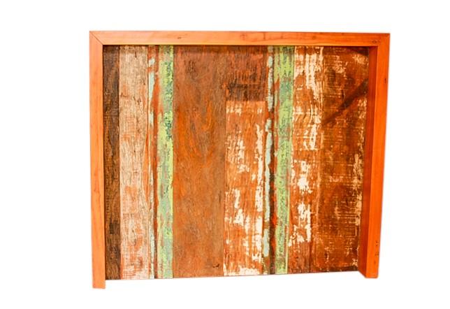 Balcão Apoio 1,20x40x1,05 para bar Sala Cozinha em Madeira de Demolição