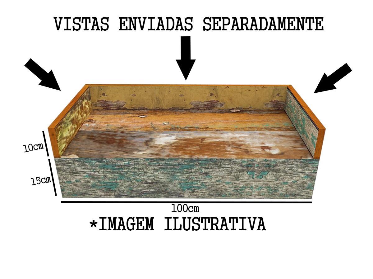 Bancada De Banheiro lavabo Em Madeira De Demolição Medindo 1,00m x 0,40m