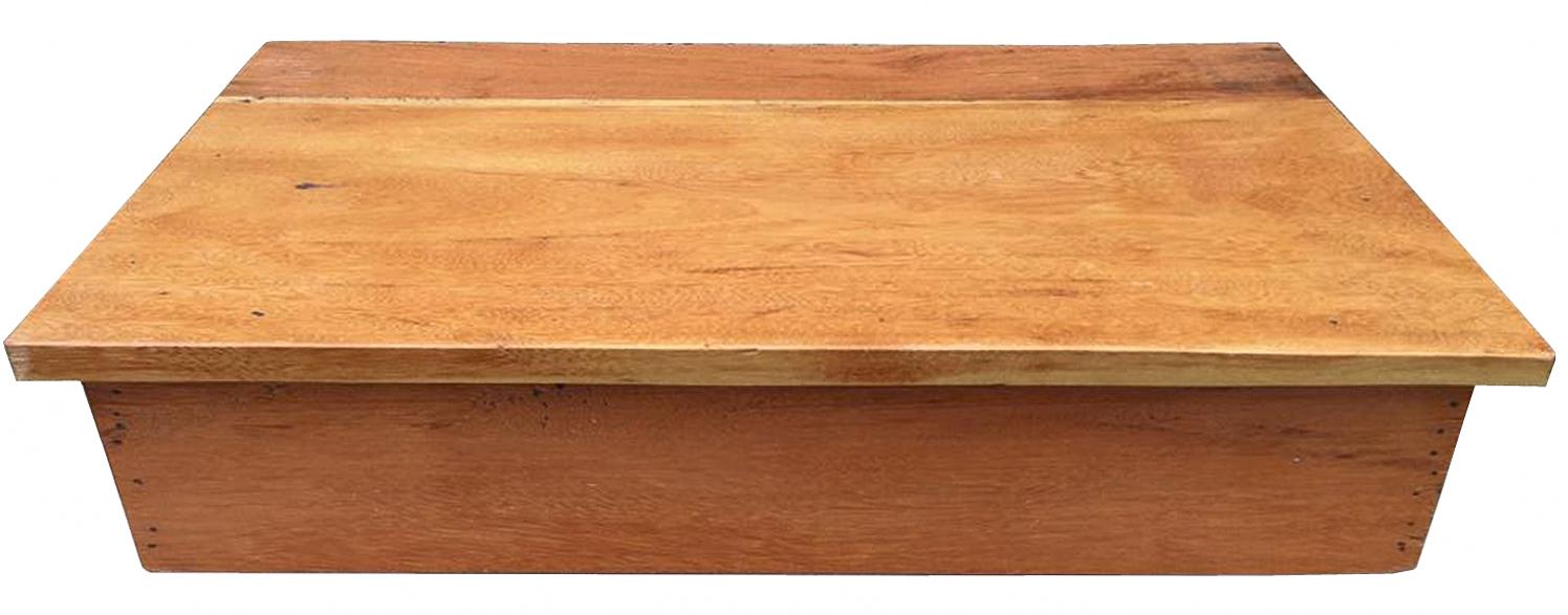 Bancada Com Borda Para Lavabo Em Madeira De Demolição 80x40cm