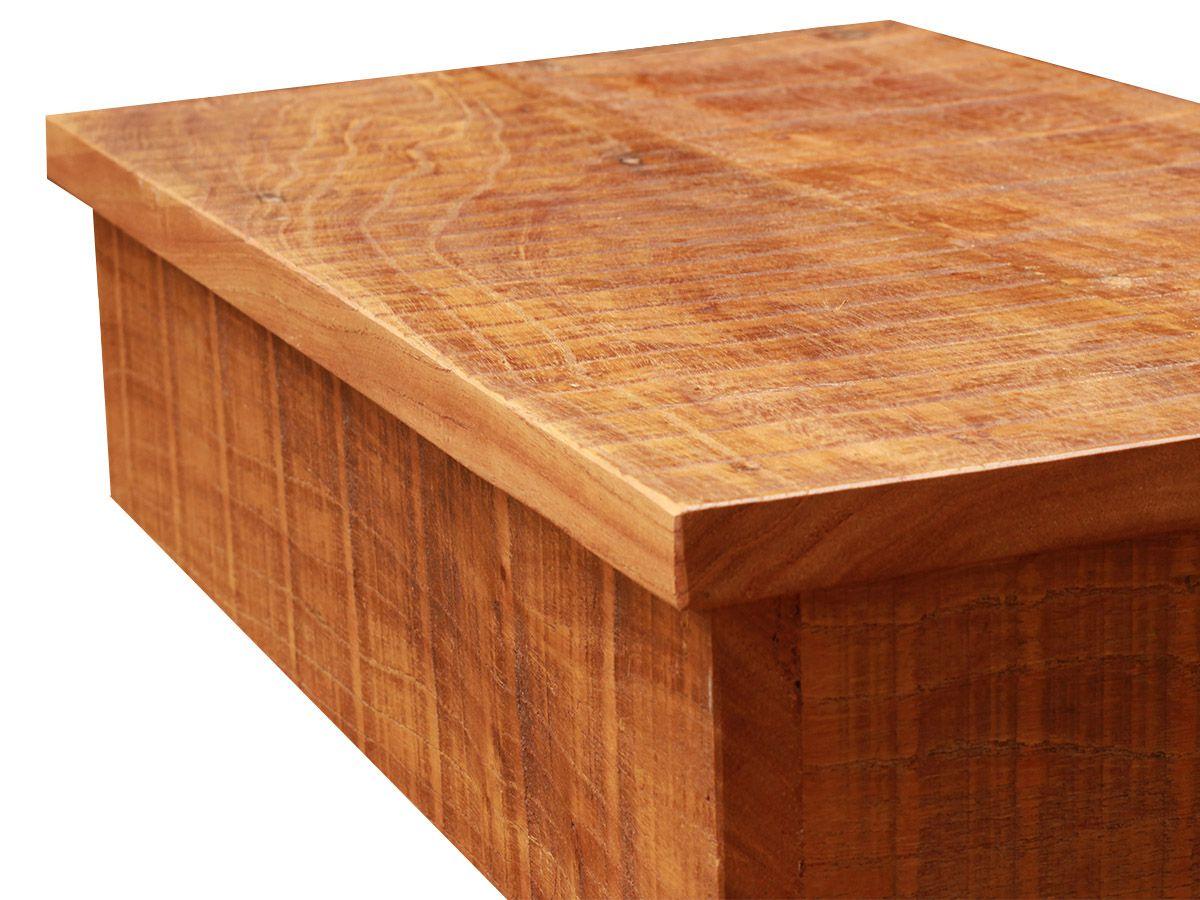 Bancada Com Borda + Prateleira para Banheiro Fabricados em Madeira De Demolição 90x40cm