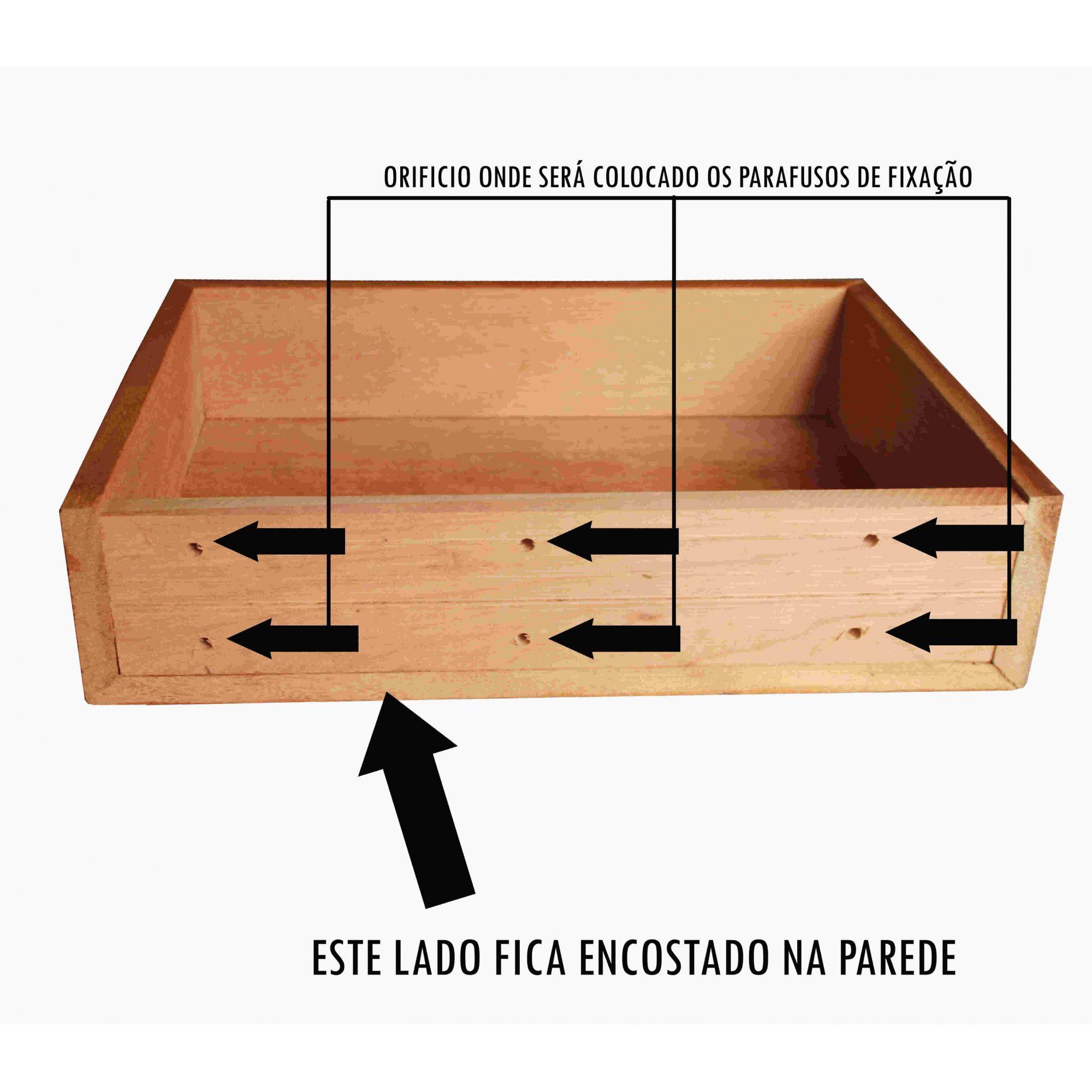 Bancada de Banheiro Fabricada em Madeira de Demolição Medindo 100x40cm