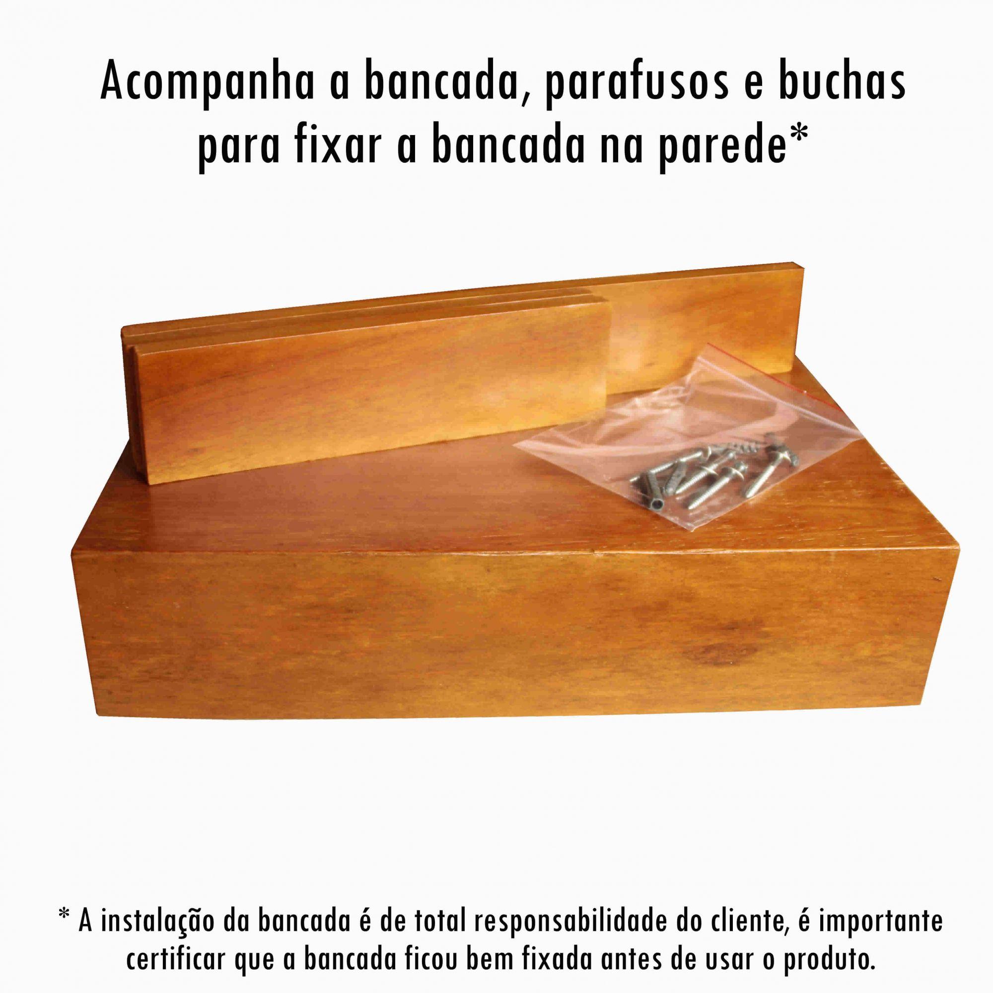 Armário de Banheiro em Madeira de Demolição medindo 60x40cm