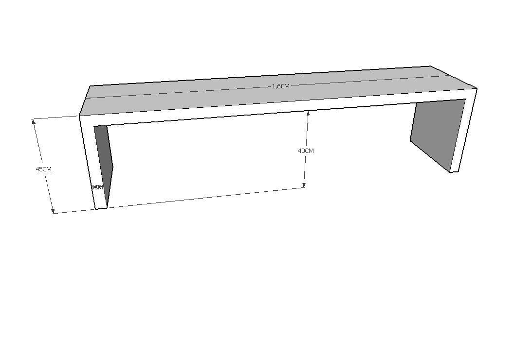 Banco Modelo U Em Madeira De Demolição Mista Medindo 1,40x40x45