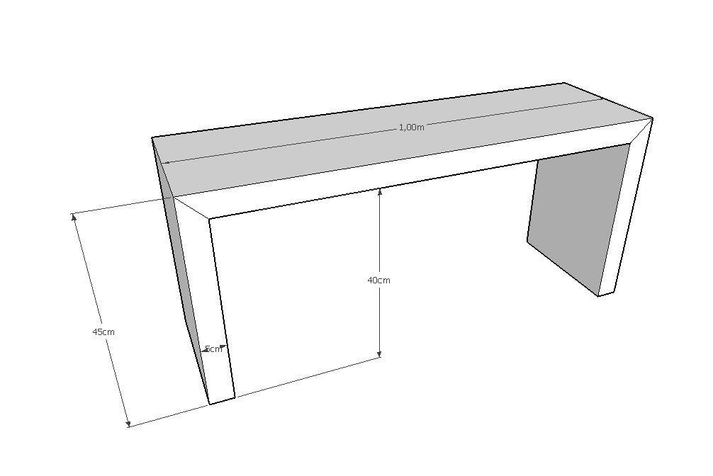 Banco Modelo Trave De Madeira De Demolição Medindo 1,00 X 30 X 45