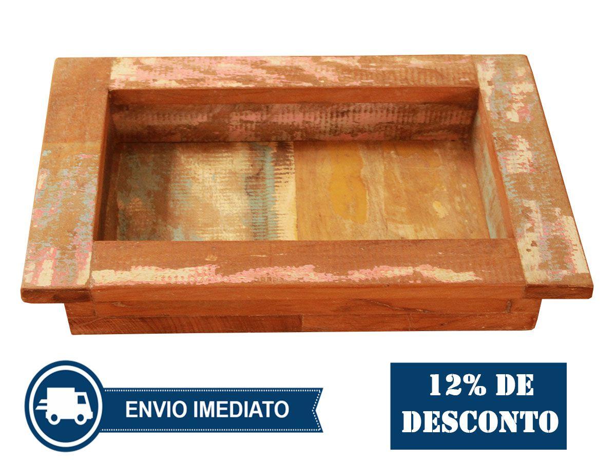 Bandeja De Madeira De Demolição e varias utilidades 34x24x5