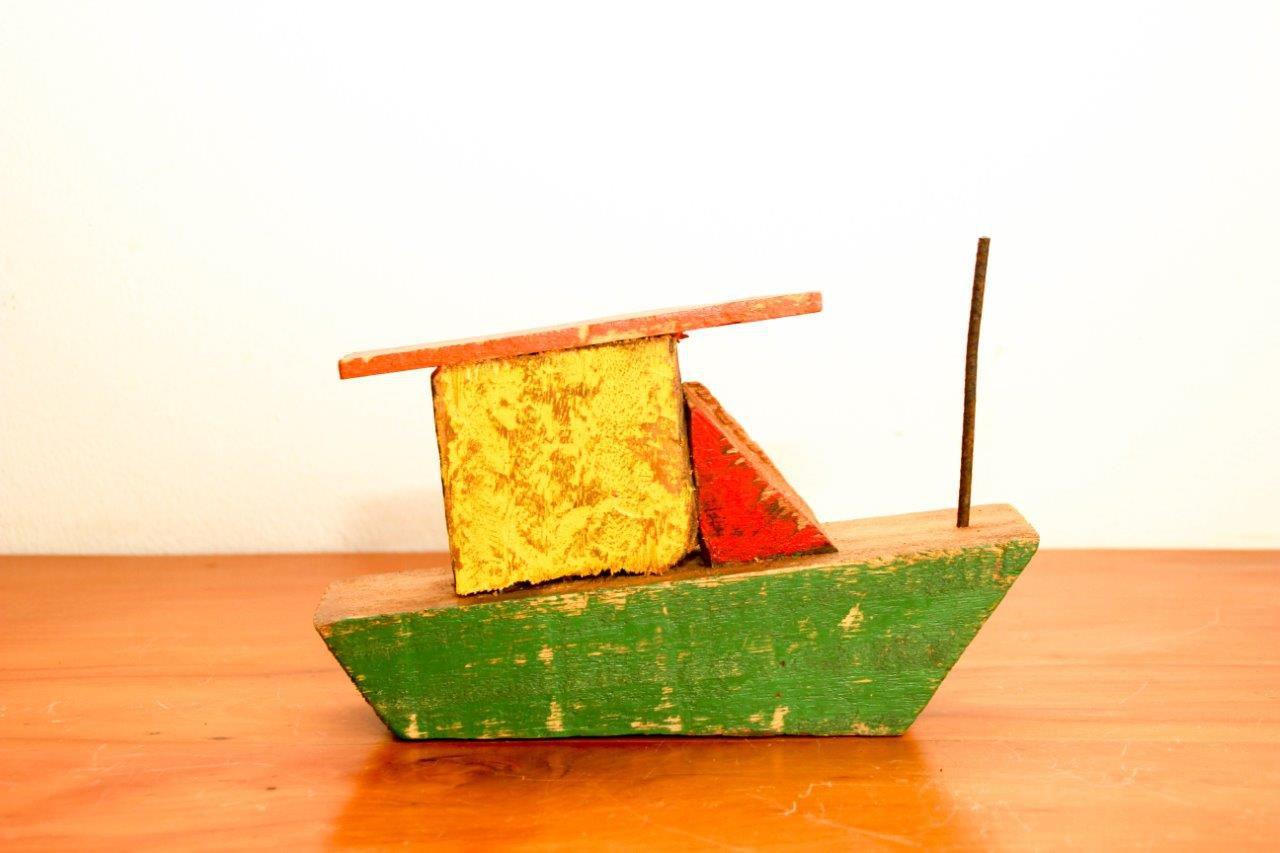 Barco Artesanal Decorativo Frete Grátis