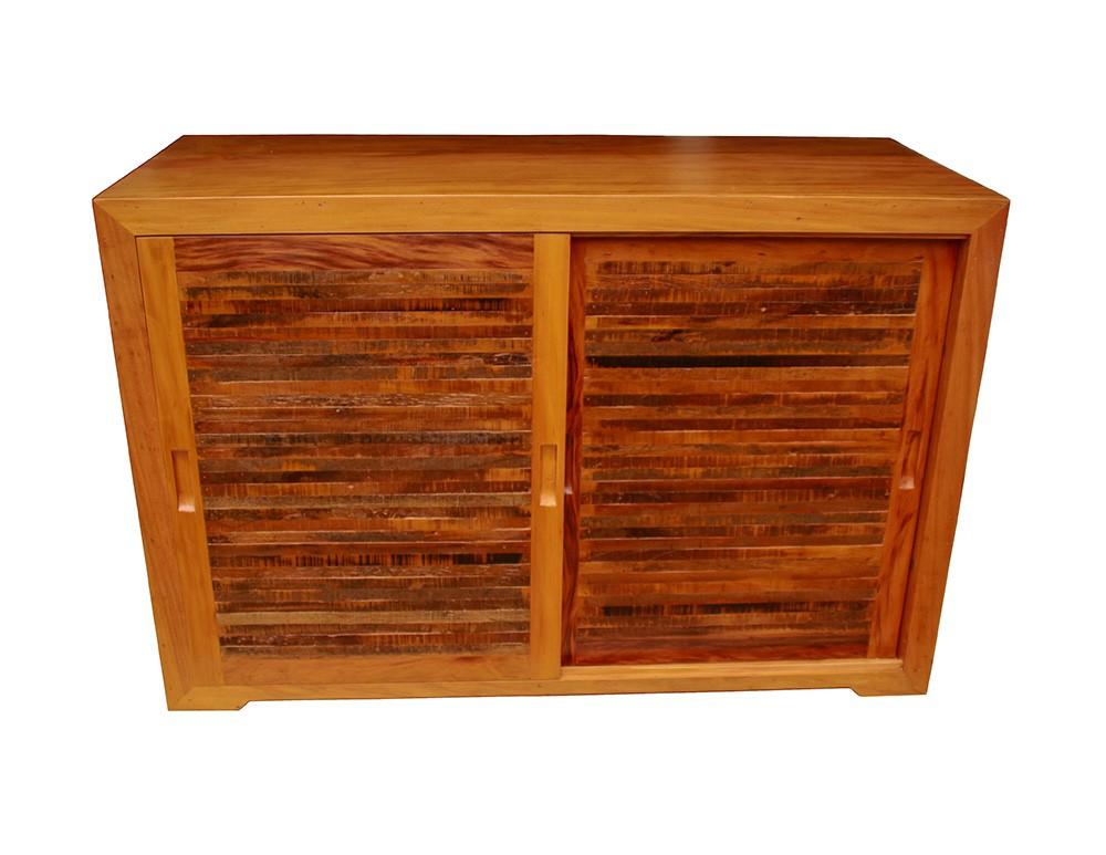Buffet Portas Ripinhas 1,20x40x80 Em Madeira De Demolição