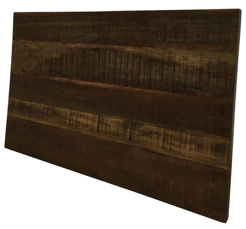 Cabeceira Para Cama King 2,00x50 Em Madeira Rústica Mista