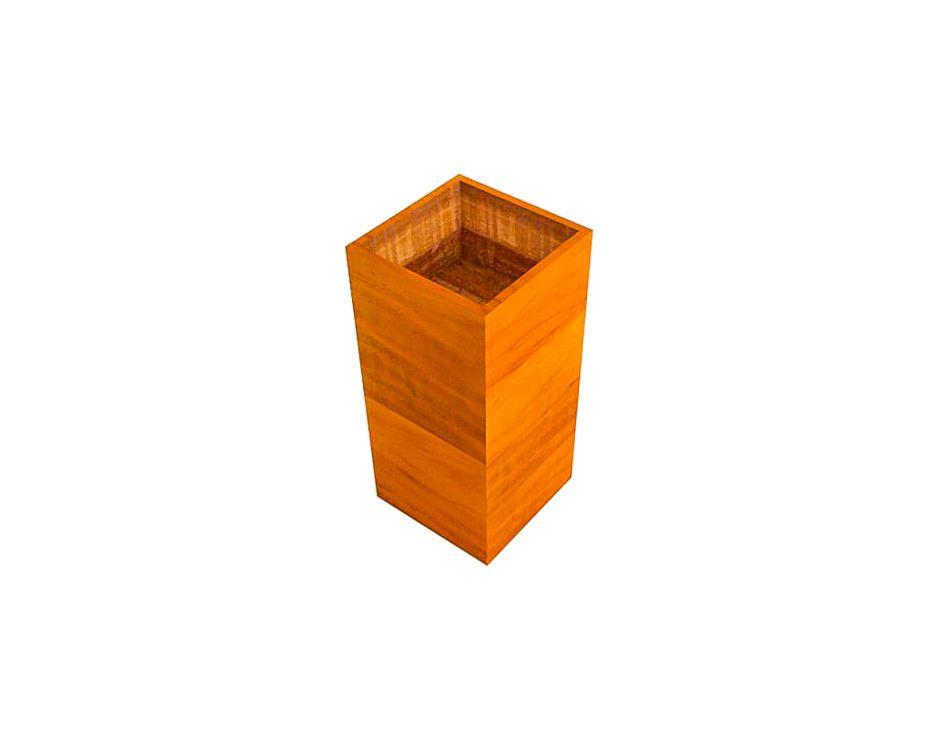 Cachepot Coluna Porta Plantas Decorativo Em Madeira De Demolição  Medindo 35x35x70