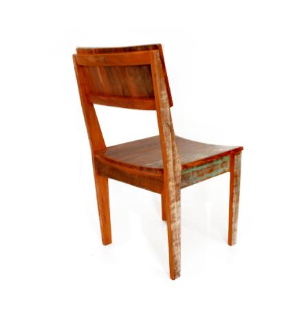Cadeira Curva Em Madeira Maciça De Demolição Colorida medidas