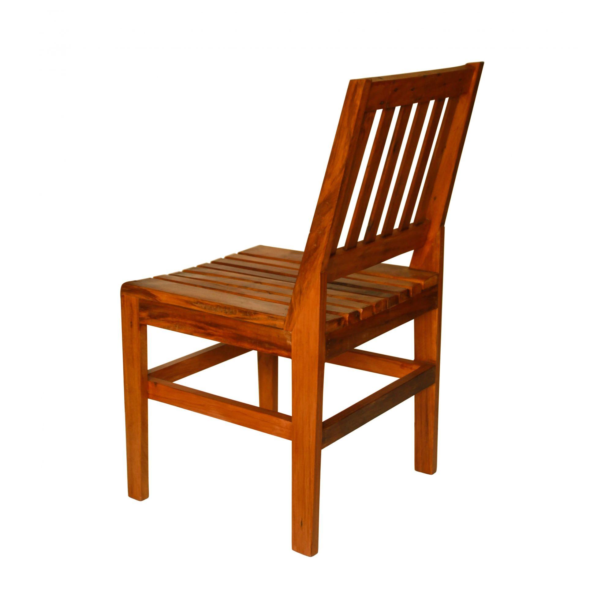 Cadeira Curva sem Braço Em Madeira Demolição medidas 43x46x85