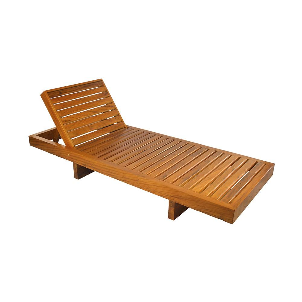 Espreguiçadeira Regulável em madeira de demolição medidas 2,00x80x26