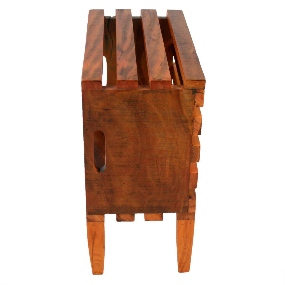 Criado Mudo modelo Caixa Em Madeira De Demolição Medindo 22x45x47