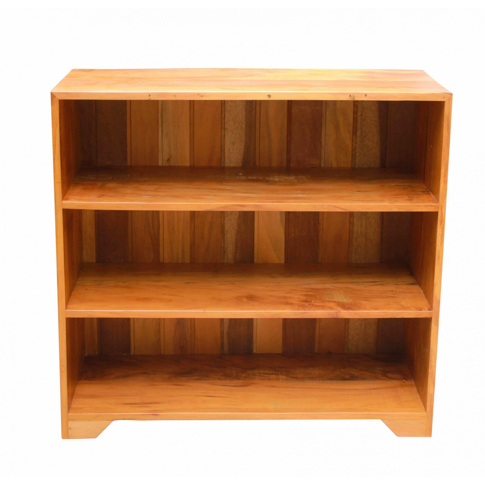 Estante Para Livros 3 Divisórias Em Madeira De Demolição Medindo 1,10x35x1,00