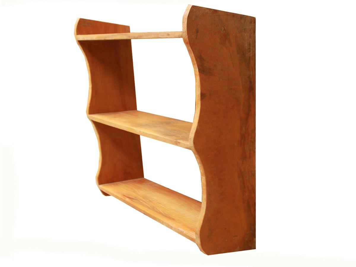 Estante para Livros Com 3 Prateleiras Em Madeira de Demolição medindo 70x20x86