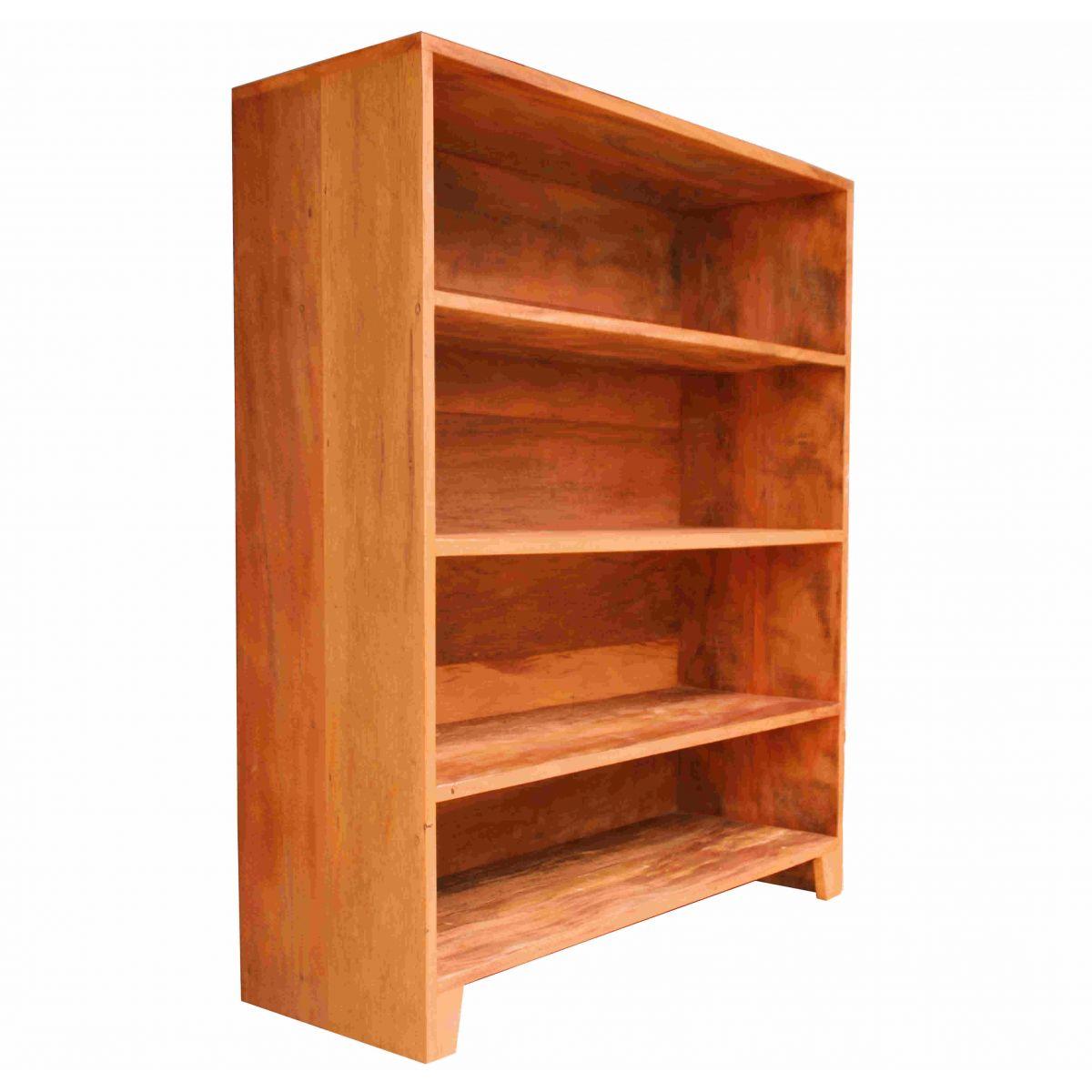 Estante Para Livros 4 Divisórias Em Madeira De Demolição Medindo 1,00x35x1,20