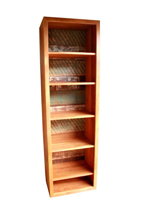 Estante Para Livros 6 Divisórias Em Madeira De Demolição Medindo 30X60X2,00
