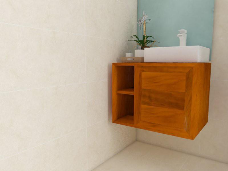 Gabinete Para Banheiro Lavabo 60 X 45 Madeira De Demolição