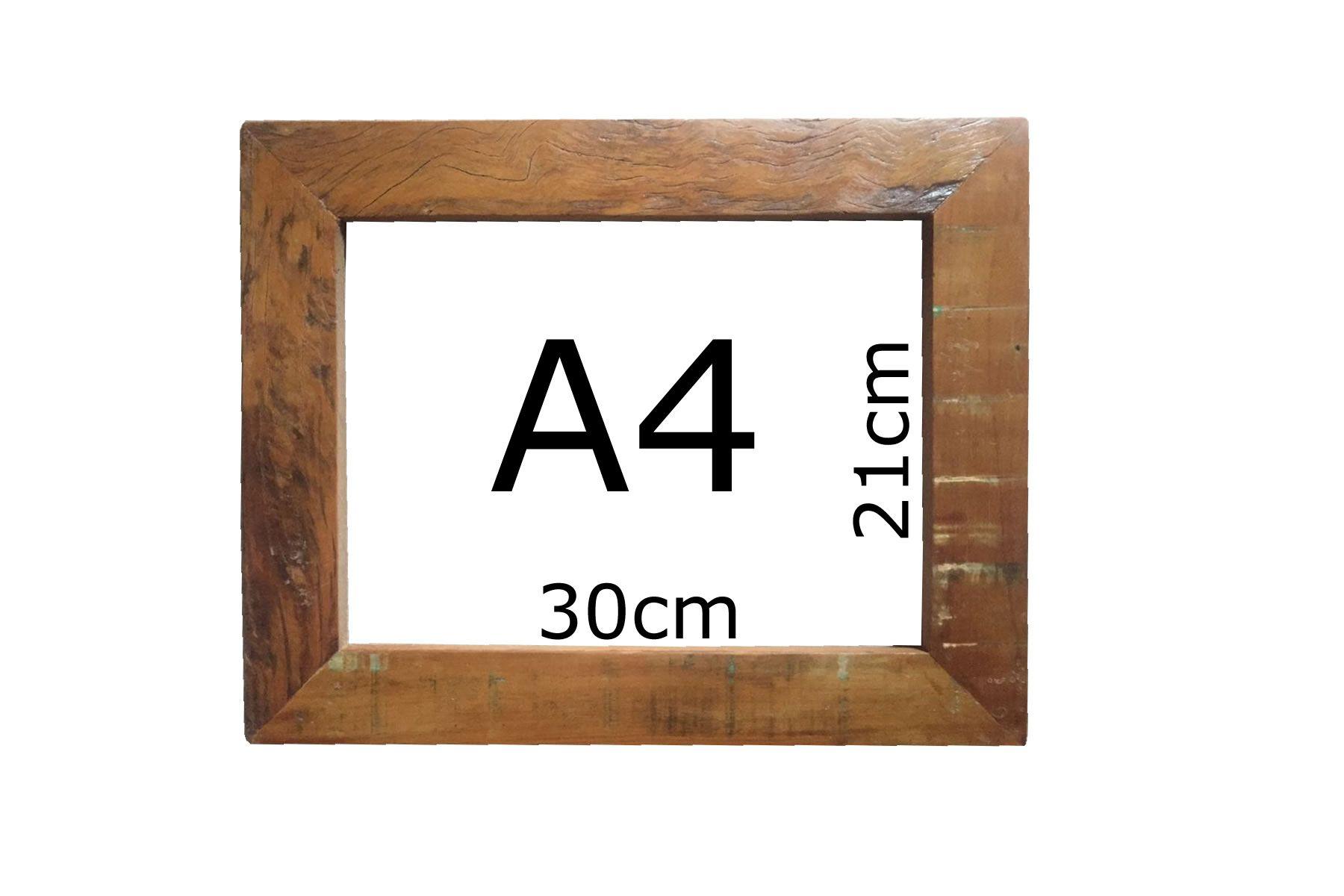Kit 2 Moldura Rústica Quadro/certificado A4 (21x30cm) C/ Vidro