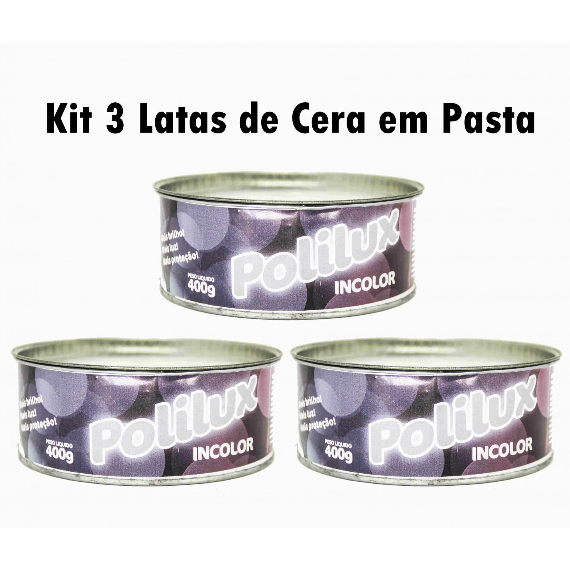 KIT 3 Cera Em Pasta Carnaúba Para Moveis De Madeira - Varias cores Disponiveis