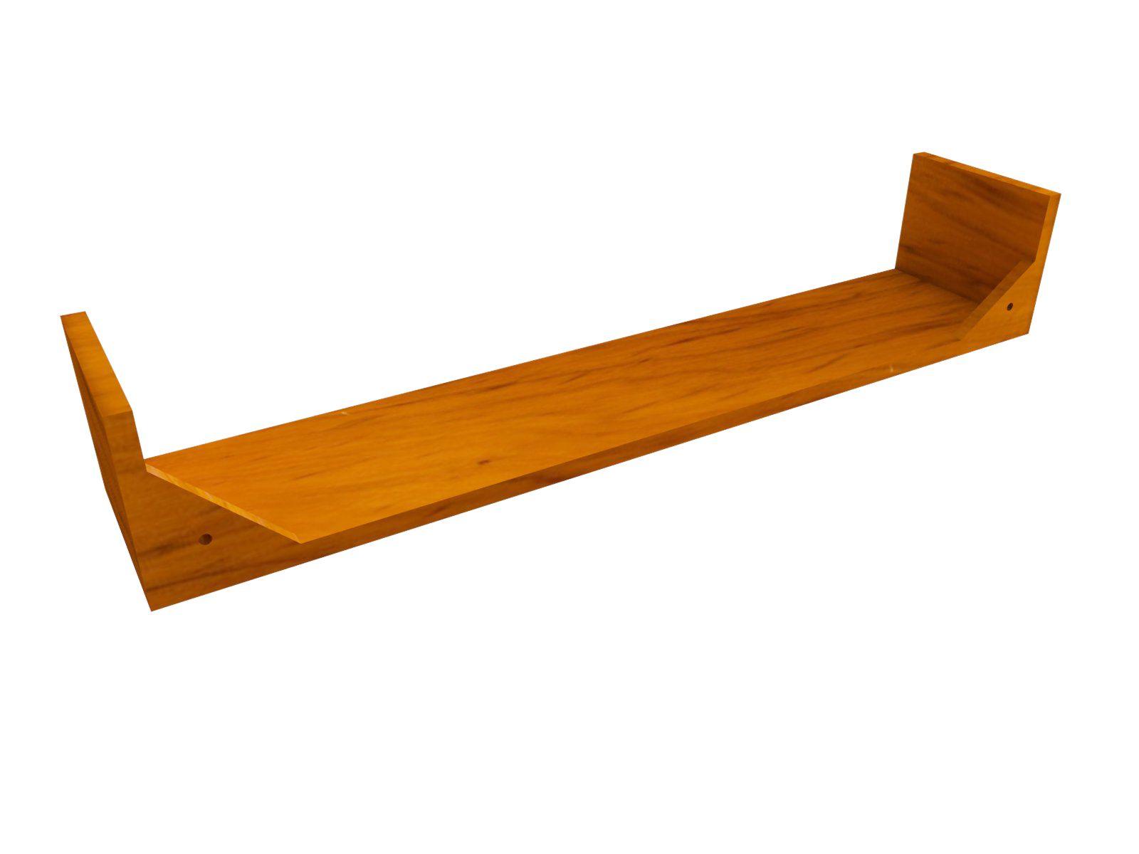 Kit 3 Prateleira em Madeira De Demolição Modelo U medindo 90x15x15